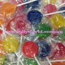 small coloured lollipops