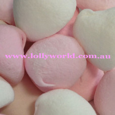 Pink and White Puff Marshmallows