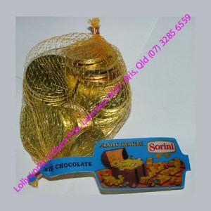 Gold Chocolate Coins - 24 x 80g Mesh Bags