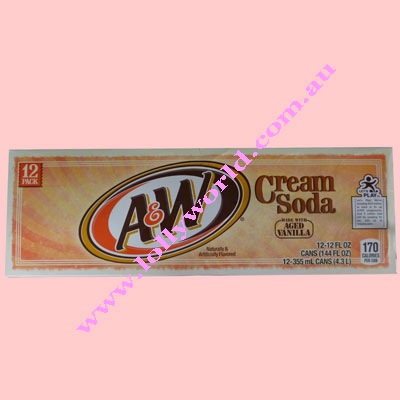 A&W Cream Soda 355ml x 12 cans (1 Carton)