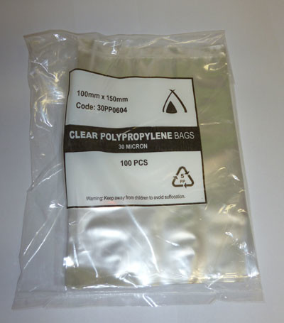 Poly bags 100mm x 150mm