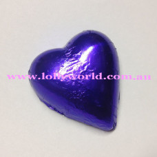 Purple chocolate hearts