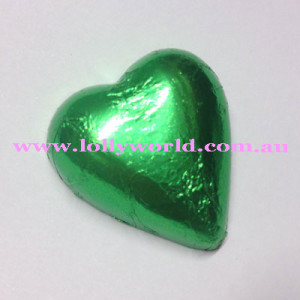 Lime Green chocolate hearts