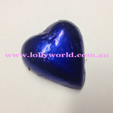 Royal Blue chocolate hearts