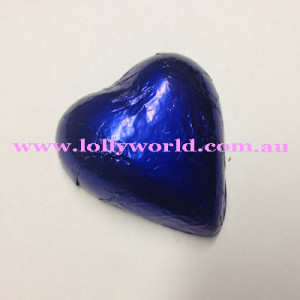 Royal Blue chocolate hearts
