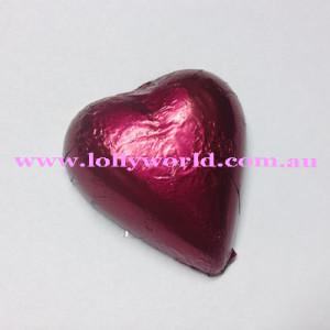 Burgundy chocolate hearts