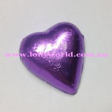 Mauve chocolate hearts