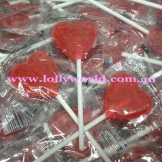 Little Red Heart Lollipops