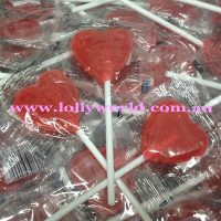 Little Red Heart Lollipops