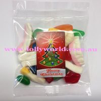 Party Mix Xmas Tree Lolly Bags 100g x 100