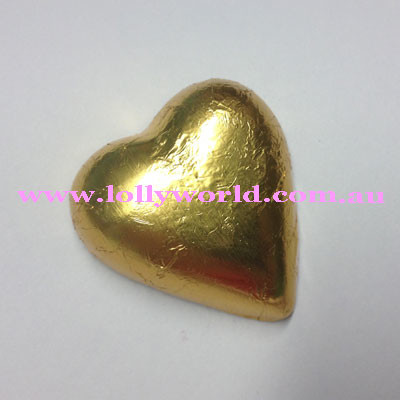 Gold Chocolate Hearts