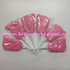 Mini Foot Pink Lollipops