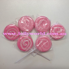 Mini Swirl Pink lollipops