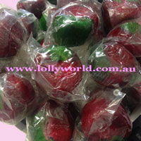 rosey apple lollipops