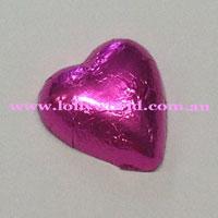 hot pink chocolate hearts