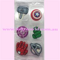 Cake Topper Avengers 6pc