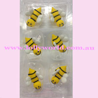 Cake Topper Bees 6pc
