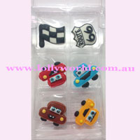 Cake Topper Cars 6pc