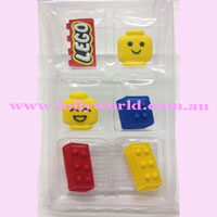 cake Topper Lego Blocks 6pc