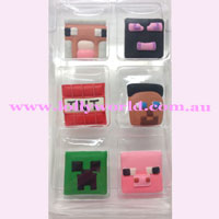 Cake Topper Minecraft 6pc