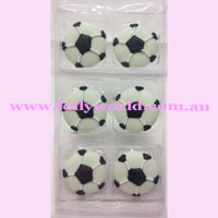 Cake Topper Soccer Ball 6pc