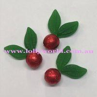mistletoe cupcakes