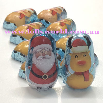 santa and his reindeer chocolate pack