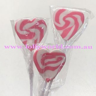 Swirly heart pop pink