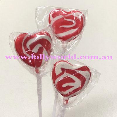 swirly heart pop red
